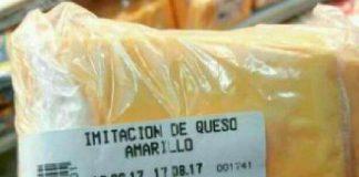imitación de queso amarillo