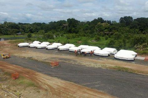 Construyen dos nuevos refugios paramigrantes en Darién