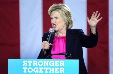 Clinton dice que los elogios de Trump a Putin son «antipatriotas» y «alarmantes»