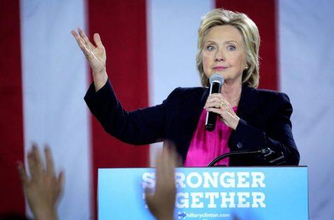 Clinton cancela viaje de campaña aCalifornia por una neumonía