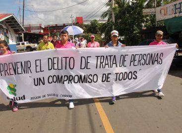 Comunidad fronteriza de Panamá yCosta Rica marcharon contra latratadepersonas