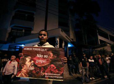 Militantes hacieron vigilia contra probable arresto de Lula