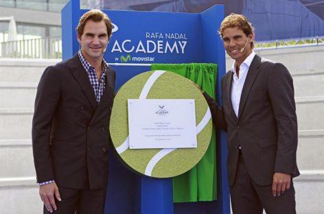 Rafael Nadal inauguró junto a RogerFederer su academia de tenis