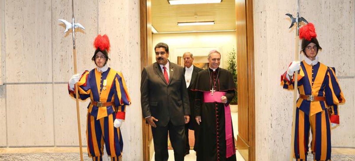 Maduro afirmó que mantuvo reunión «exitosa» con el papa Francisco