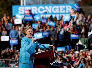 Nueva encuesta indicó ventaja de Clinton frente a Trump