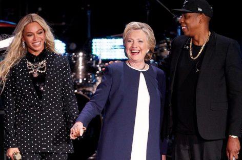 Beyoncé y Jay Z protagonizaron concierto en apoyo a Clinton
