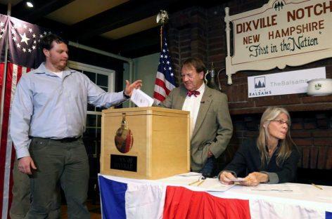 Hart's Location votó a medianoche y dio ventaja a Clinton