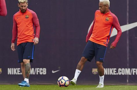Neymar y Messi llegaron juntos aBelo Horizonte para el encuentro Brasil-Argentina