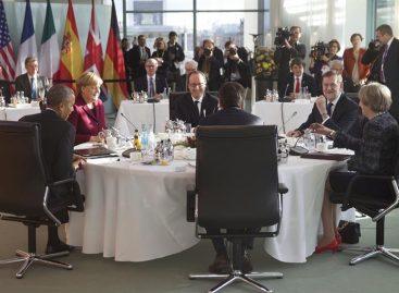 Europa y Estados Unidos acordaron mantener sanciones a Rusia