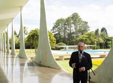 Temer garantizó que terminará su mandato y entregará un Brasil «en orden»