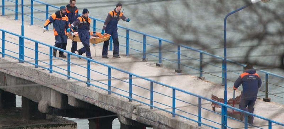 Tragedia aérea en el mar Negro enlutó a Rusia