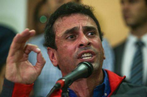 Gobierno venezolano inhabilitó políticamente a Henrique Capriles