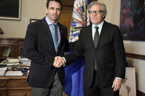 Luis Almagró se pronunció sobre inhabilitación del venezolano Capriles