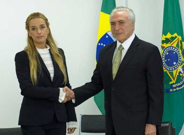 Temer le dijo a Tintori que Brasil está junto al pueblo venezolano
