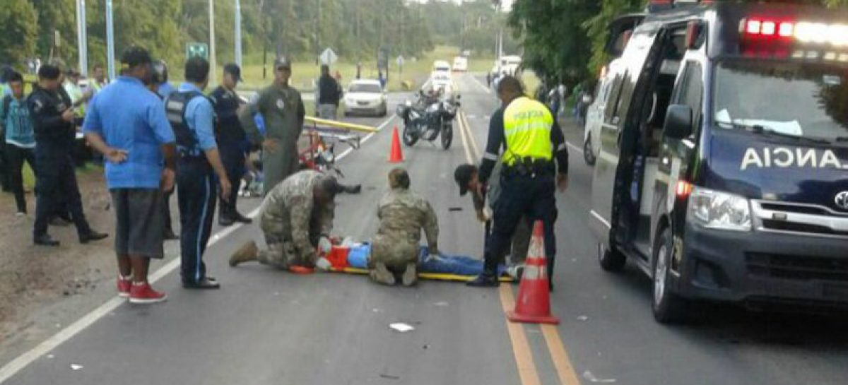 Motorizado resultó herido por colisión en Howard