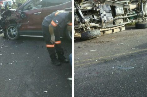 Cinco heridos tras colisión múltiple en vía hacia Volcán en Chiriquí