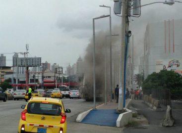 Autobús se incendió en la vía Transístmica