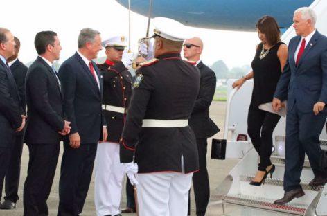 Mike Pence ya está en Panamá e inicia visita oficial