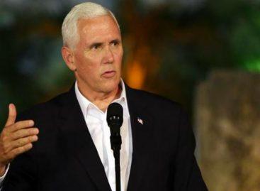 Vicepresidente Pence recorta su agenda y solo estará unas horas en el país