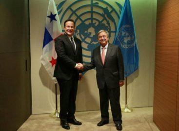 Varela inicia agenda en NY con reunión con secretario de la ONU