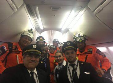 Brigada de rescate panameña retornó este martes al país