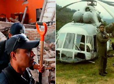 Helicóptero con ayuda para víctimas del sismo se desplomó al sur de México