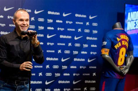 Andrés Iniesta renovó de por vida con el Barcelona
