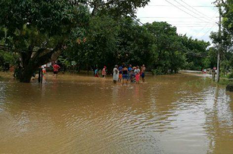Unas 462 familias han sido afectadas por las lluvias en el interior del país