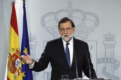 Rajoy rechazó reunirse con el cesado presidente catalán Puigdemont