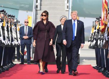 Trump llegó a Seúl en medio de las tensiones con Pyongyang