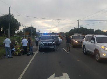 Dos heridos por colisión múltiple en vía a La Villa de Los Santos