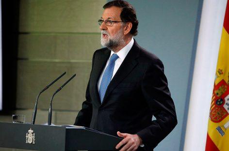 """Rajoy ve """"absurdo"""" pretender que Cataluña salga de la Unión Europea"""