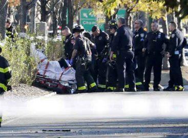 Ocho personas murieron atropelladas tras atentado en Manhattan