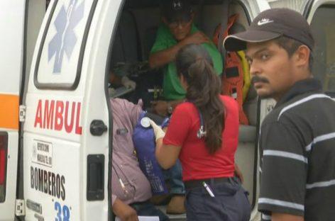 Dos heridos por colisión cerca de Las Dos Bombas en David