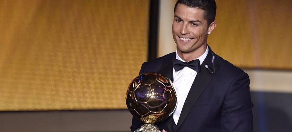¡Cristiano Ronaldo recibió su quinto Balón de Oro!