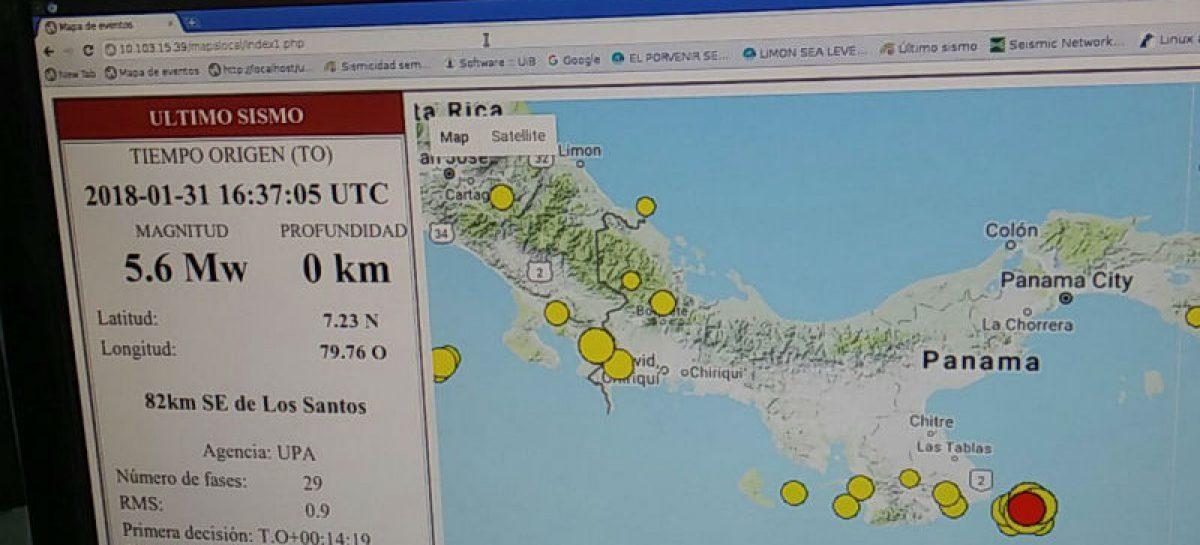 Temblor de magnitud 5.6 se sintió en la capital y en el interior del país