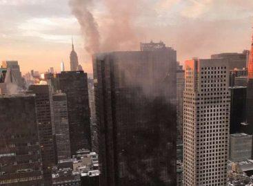 Incendio en el techo de la Torre Trump dejó un herido de gravedad