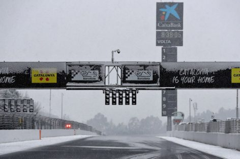 Fuerte nevada retrasa ensayos de la Fórmula 1
