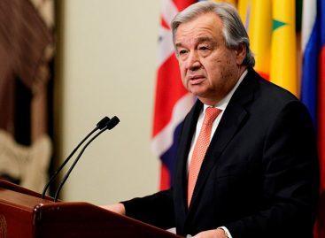 Guterres: Queda camino muy largo por recorrer en respeto a DDHH