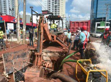 Entre 6 y 12 horas tardará restablecimiento del servicio de agua tras trabajos en Vía Brasil
