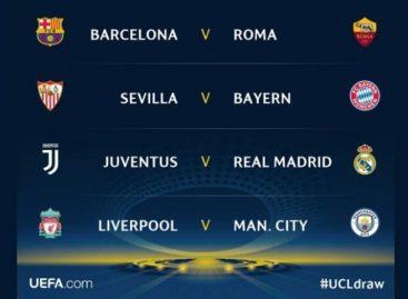 Sorteados los cuartos de final de Champions League y Europa League