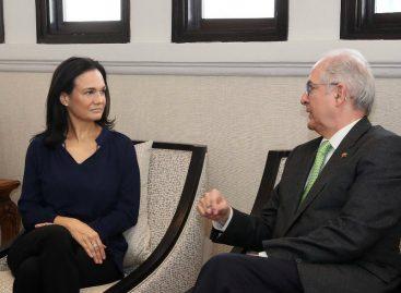 Antonio Ledezma se reunió con Saint Malo para hablar sobre situación humanitaria de Venezuela
