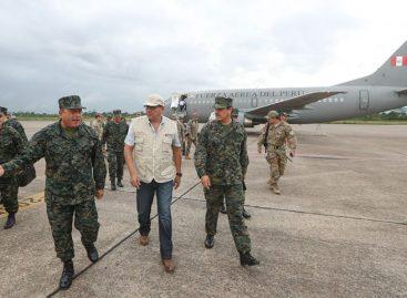 Ministro inspeccionó instalaciones militares en frontera de Perú con Colombia