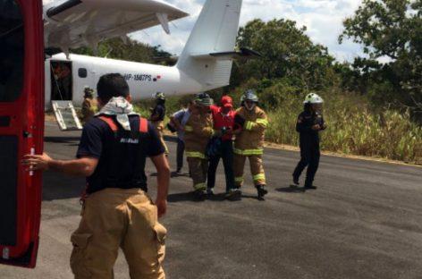 Avión que venía de Bocas del Toro aterriza de emergencia en Santiago