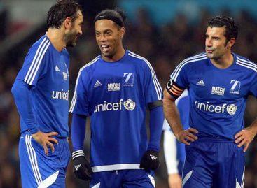 Figo y Ronaldinho capitanes en el Partido por la Solidaridad