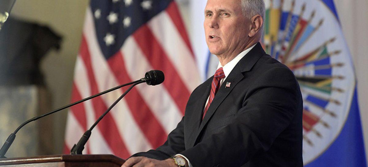 Mike Pence pidió a países de la OEA suspender a Venezuela