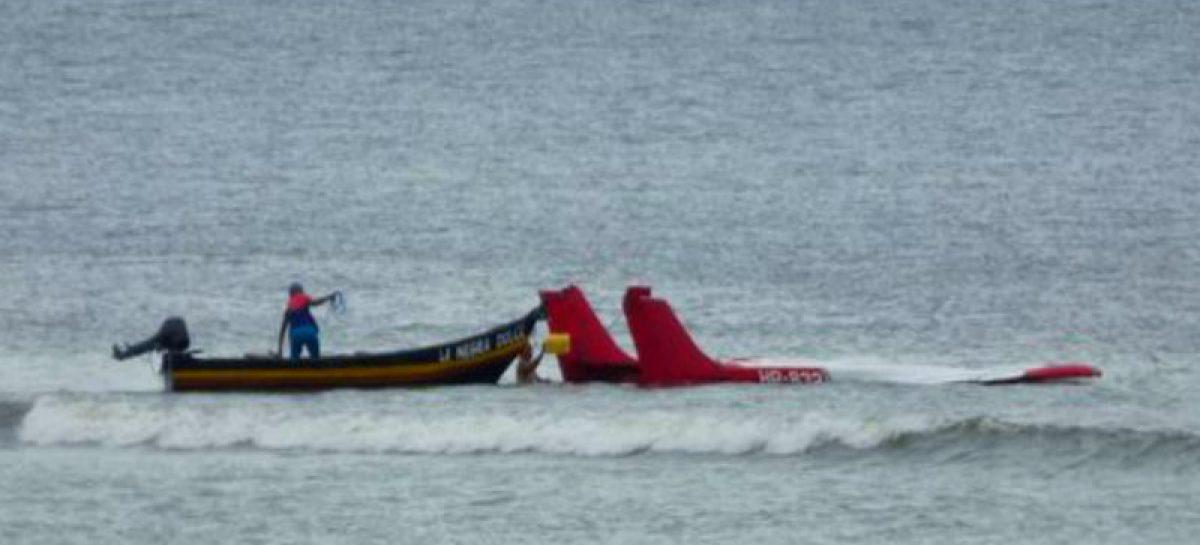De alta el piloto que cayó al mar en una aeronave en Los Santos