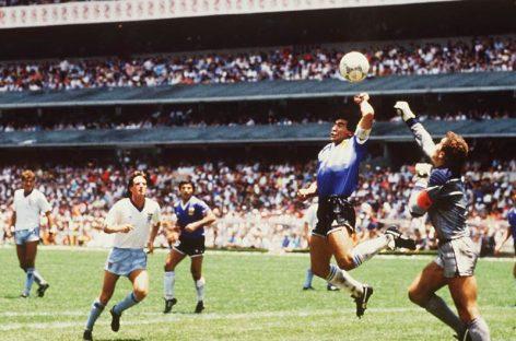 Hoy se cumplen 32 años de la «mano de Dios», el famoso tanto de Maradona