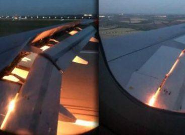 ¡Terror en el aire! Avión del equipo de Arabia Saudita se incendió en pleno vuelo (VIDEO)