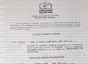 Presentan habeas corpus a favor de Martinelli